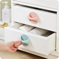 Handles & Pulls Plastic Furniture Pull Knob Self-Stick Push Helper For Glass Sliding Pocket Doors Cupboard Dresser Cabinet Wardrobe