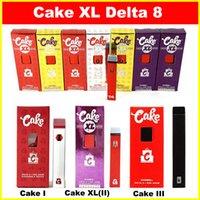 최신 케이크 XL 델타 8 D8 일회용 전자 담배 장치 전체 그램 (1ml) 용량 빈 포드 충전식 vape 펜 280mAh 배터리 두꺼운 기름