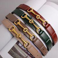 Cintos All Match Plain Real Vaca Cinto De Couro Para Mulheres Simples Design Cintura Moda Jean Pant Dress Cintura Genuína