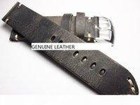 Top Grau Craziça Cabeça de Cabeça Mão Feito Relógio Pulseira Pulseira Band Genuine Leather Watch Strap WristWatch Corrigir Peças Acessório Mudança