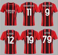 AC Milan 20 21 22 22 Jersey de futebol Ibrahimovic Paqueta Bennacer Romagnoli Calhanoglu 2021 Camisa de Futebol Tonali Rebic Maillot