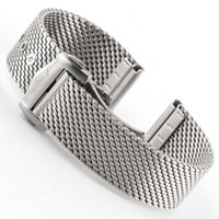Mesh Bracelet Watch Accessories Deployment Clasp 20mm Strap Stainless Steel Universal Watchband Shark Fit for Omegawatch H0915