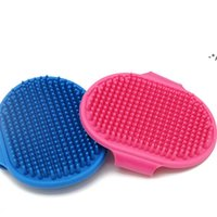 NEWDog Bath Brush Comb Silicone Pet SPA Shampoo Massage Brush Shower Hair Removal Comb For Pet Cleaning Grooming Tool GWE10363