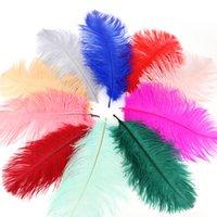 Страус перо шлейф красочные перья для ремесел костюм поставки столовые свадебные днеменные центры 12 цветов Выберите HH9-2119 ABUO 646 V2