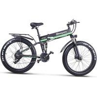 Shengmilo MX دراجة كهربائية 48 فولت 1000 واط، دراجة كهربائية الدهون الإطارات، الدراجة الجبلية 48 فولت 4،0 فيت رائد ebike بطارية ليثيوم-بطارية، دراجة قابلة للطي الأخضر