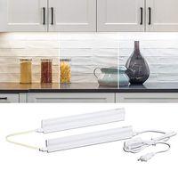 Полный набор светодиодных кухонных фонарей под кабинетом света шкафы шкафы шкафы 220 В 110 В 30/50/60 см трубки для домашнего освещения ванной комнаты