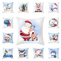 Cartoon Christmas Pillowcase Merry Christmas Decorations Cute Snowman Sofa Cushion Home Pillow Covers w-01151