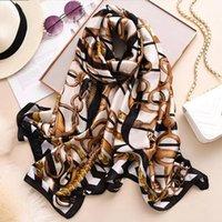 Bufandas estilo otoño e invierno mujeres playa estampado chal chal de china de lujo de lujo señora moda protector solar bonita flor hijab