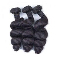 Specialized Manufacturer Raw Unprocessed Virgin Loose Wave Indian Hair Extensions 3 Bundles Thick Double Drawn For Black Women