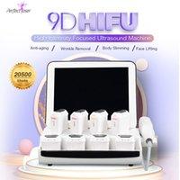 9D 3D Máquina de Hifu Face Levantando Apertação de Pele Device 8 Cartuchos Alta Intensidade Focado Equipamento de Ultrassom 11 Linhas