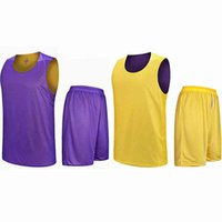 Double Sided Wearable Basketball Jerseys Sets Sports Clothes Quick Dry Men Children Training Suits Uniforms Kits