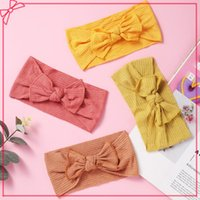 Korea Elastic Hair Bands For Baby Girls Summer Thin Headwear Sweet Knit Candy Colors Turban Headwrap Born Accessories