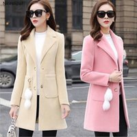 Neue 2020 Mischungen Wools Mantel Weibliche Mantel Herbst Winter Mäntel Und Jacken Frauen Plus Size Mantel Damen Wollmäntel Lange Tops J6bz #