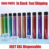 Высочайшее качество Iget XXL одноразовые сигареты POD устройства Kit 1800 слойки 950 мАч 7 мл Vape Pape для Bang Shion Lite Plus Max Australia оптом быстро отправить