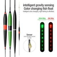 1pc portable Smart Pêche Float LED Couleur de la couleur Changement de couleur automatique Rappelez l'alarme Night Night Bouée électronique Accessoires