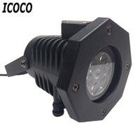 Lamps Lamps Lamps ICOCO 1 шт. Открытый светодиодный лазерные пятна проектор водонепроницаемый 12 карт вечеринка светло-рождественские снежные хлопья света для детей