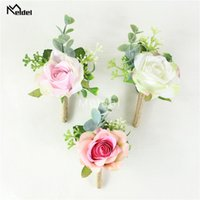 Decorative Flowers & Wreaths Wedding Corsages And Boutonnieres Bridegroom Buttonhole Women Brooch Bridesmaid Wrist Bracelet Sister Wristband