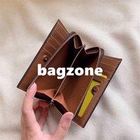Homens designer carteiras moda mulheres bolsa clássicas de alta qualidade unisex moeda bolsa titular cartão vermelho café