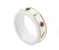 Мода Белая керамика кольца Bague Anillos для мужских и женщин Обручальное Свадебное украшения Любовник подарок с коробкой