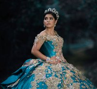 Luxury Mexican Quinceanera Dresses Crystal Beads Lace Appliqued Sweet 16 Dress Off the Shoulder vestidos de XV 15 años