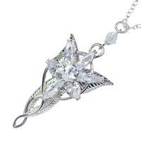 Lotr Arwen Evenstar قلادة قلادة الهوبيت أزياء الأميرة المرأة مروحة هدية جودة عالية 210929