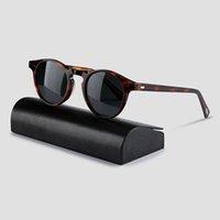 الرجال بيك خمر ov5186 للنساء غريغوري الاستقطاب الشمس op نظارات نظارات جولة العلامة التجارية الأصلي مربع روين