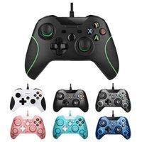 تحكم اللعبة المقود تحكم السلكية USB ل Xbox One Video Joystick Mando Microsoft Slim Gamepad Control Joypad Windows PC