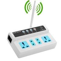 Alarm Sistemleri GSM Akıllı Anahtar Ile 4 Güç Soket Ile Uzaktan Kumanda SMS Göre Kumanda için Arama KAPALI Zamanlama Görevler Sıcaklık Sensörü Opti