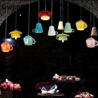 Северная керамическая чашка чайного чайника подвесные светильники современные светодиодные лампы Home House House Decor для гостиной кухня светильники светильники светильники