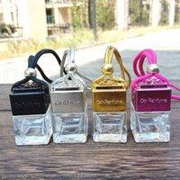 Кубин полые автомобильные парфюмерные флакон заднего вида орнамент висит висит воздух Освежитель эфирных масел диффузор аромат пустые стеклянные бутылки кулон Rra4212