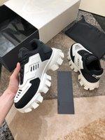 Prada shoes dbust Donner Strick Turnschuhe Luxus Maxi-Turnschuhe Licht Gummisohle 3D Turnschuhe Damen Übergrößen Drei