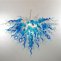 El üfleme cam avize lambaları yatak odası yaratıcı İskandinav modern avizeler kolye lamba villa lobi asılı ışık