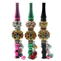 Smoking Pipes Metal Pendant Figure Animal Round Bead Shaped Removable Circulating Filter Cigarette Holder Pipe Mixed color wholesale