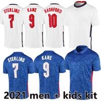 20 21 Futbol Forması Kane Stones Rashford Sancho Henderson Barkley Maguire 2021 Futbol Gömlek Phillips Dağı Erkekler + Çocuk Kiti Üniformaları
