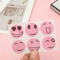 الصيف اليومية الآفات السيطرة مبتسم الوجه ملصقات مكافحة البعوض أدوات طارد الكرتون 6 أبازيم ألوان عشوائية خفيفة وآمنة EEB5691