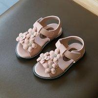 Girl Baby Sandals Little Princess Soft Bottom Fashion 2020 Summer New Korean Childrens Shoes Flowers Girls Beach Shoes D02241