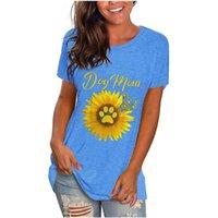 Women's T-Shirt Summer Women T Shirts Cotton Plus Size Floral Sunflower Print Short Sleeve O Neck Fashion Simple Casual Tshirt Woman Top Tee