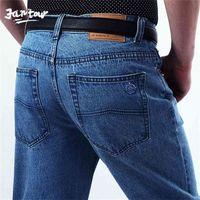 02 Frühling Herbst Hohe Qualität Jeans Männer Marke Denim Baumwolle Hose Männer `s Geschäft lose gerade lange große größe 40 42 210716