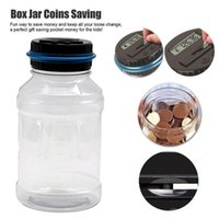 Storage Bags Money Saving Jar Clear Digital Piggy Bank Coin Savings Counter Lcd Counting Change Gift For Child Us Dollar GBP EUR