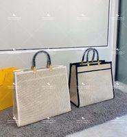 الصيف أزياء السيدات حقائب اليد حقيبة يد مصمم تثير حجم الكبير حقيبة الظهر المنسوجة الإسرائيلي مع رسائل مطرزة للسفر الترفيه
