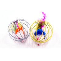 Cat Toys FUN Randomly Gift Pet Kitten Playing Mouse Rat Mice Ball Cage Funny Play