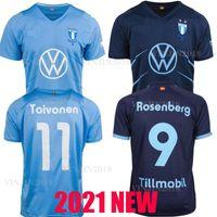 21 22 Malmö FF كرة القدم جيرسي 2021 2022 مالمو Camisetas Ola Toivonen Anders Christiansen Isaac Kiese Thelin Markus Rosenberg Jonas Knudsen Ho