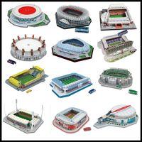 링크 2 클래식 지그 소 짜 DIY 3D 퍼즐 세계 축구 경기장 유럽 축구 놀이터 조립 모델 어린이를위한 모델 퍼즐 장난감