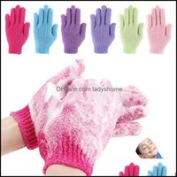 Brushes, Sponges Scrubbers Bathroom Aessories Home & Gardeth Exfoliating Moisturizing Gloves Bath Shower Mitt Scrub Spa Mas Skin Care Body S
