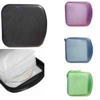 Storage Bags Portable 40pcs Disc CD DVD Wallet Boxes Holder Sleeve Hard Bag Box Cases With Zipper Organizer