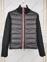 placket الملونة محبوك d جيب رجل أسفل سترة عالية qulyity فرنسا مصممي luxurys jakcets حجم 1--5