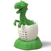 Kreative Dinosaurier Baby-Form-Teeinfuser-Sieme Lebensmittelgrad Silikon Tyrannosaurusblatt Kräutergewürzfilter Teebeutel-Zubehör 575 V2