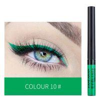 Geflügelter Neon Eyeliner Flüssigkeit fluoreszierende leuchtende bunte Dichtungsstempel Eye Liner Pen Wasserdichte langlebige grüne Makeup Bleistift