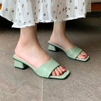 Sandals Plus Size 31-43 Women Simple Solid Colors Summer High Heel Fashion Green Party Dress Shoes Woman