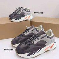 2021 Allık Çöl Sıçan Bebek Çocuk Koşu Ayakkabıları Yardımcı Programı Siyah Erkek Bebek Kız Toddler Gençlik Eğitmenler Çocuk Sneakers Kutusu Olmadan 26 ~ 44 Aile Ayakkabı